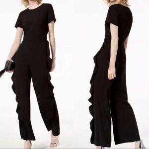 Bar III LIKE NEW cascading black pants size small